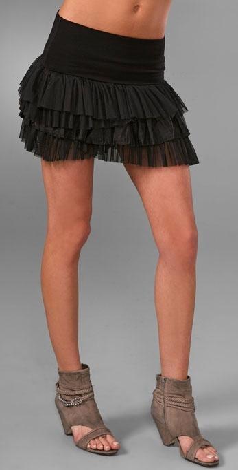 Free People Merries Ruffle Skirt