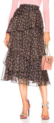 ALEXACHUNG Asymmetric Tiered Skirt