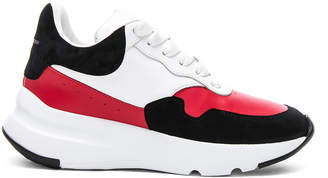 Alexander McQueen Leather & Suede Lace Up Sneakers