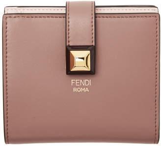 Fendi Pink Stud Foldover Wallet