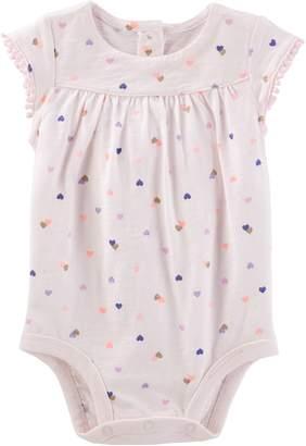 Osh Kosh Oshkosh Bgosh Baby Girl Heart Jersey Bodysuit