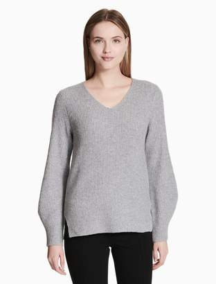 Calvin Klein v-neck balloon sleeve sweater
