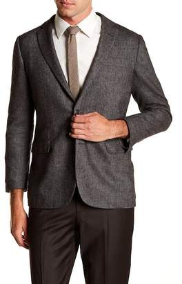 Brooks Brothers Notch Collar Front Button Print Regent Fit Jacket