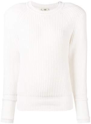Fendi embroidered cuff jumper