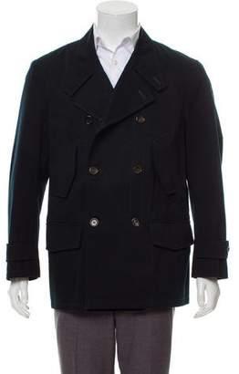 Saint Laurent Woven Button-Up Jacket