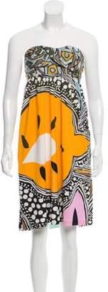 Diane von Furstenberg Cecia Strapless Dress Orange Cecia Strapless Dress