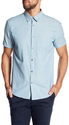 John Varvatos Plaid Short Sleeve Regular Fit Shirt