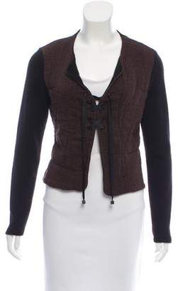 Fendi Lace-Up Knit Long Sleeve Sweater
