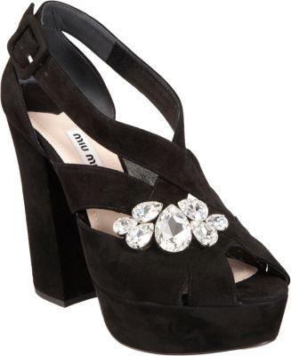 Miu Miu Prism-embellished Platform Sandal