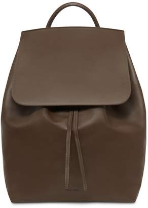 Mansur Gavriel Calf Men's Backpack - Chocolate