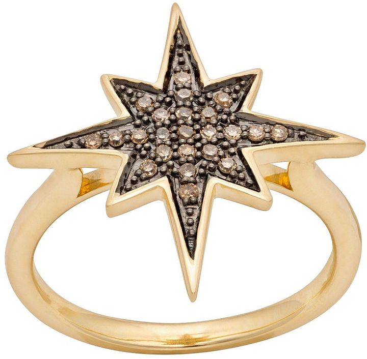 JLO by Jennifer Lopez Jlove by 10k gold 1/7-ct. t.w. champagne diamond starburst ring