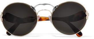 Prada - Round-frame Acetate And Metal Sunglasses - Tortoiseshell $360 thestylecure.com