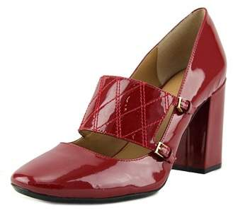 Calvin Klein Casilla Round Toe Patent Leather Mary Janes.