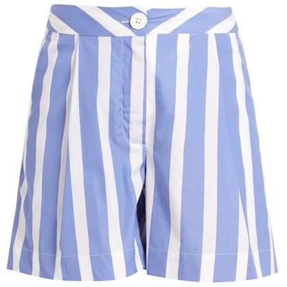 Mach striped cotton-poplin shorts