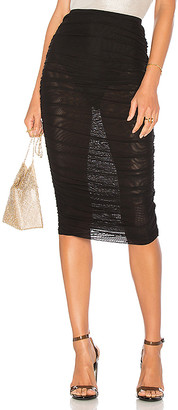 by the way. Kinsley Mesh Midi Skirt