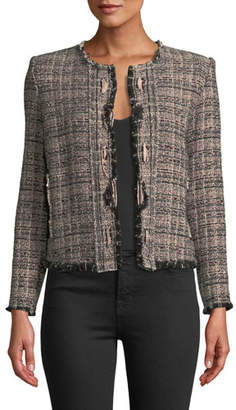 IRO Jocund Collarless Tweed Jacket
