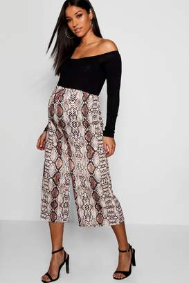 boohoo Maternity Snake Print Culotte Trouser