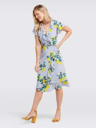 Draper James Collection Lemon Blossom Floral Wrap Dress
