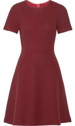 Lela Rose Flared Open-Knit Wool-Blend Dress