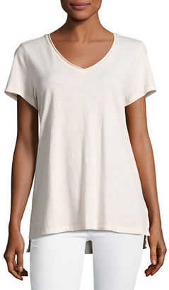 Eileen Fisher Slubby Organic Cotton Jersey Tee $68 thestylecure.com