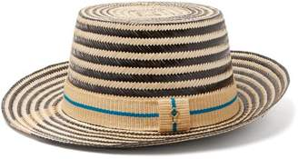 Yosuzi Mateo Straw Hat - Mens - Black Multi