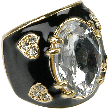 Oval & Heart Rhinestone Ring