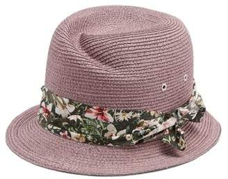 Maison Michel Virginie Straw Hat - Womens - Purple