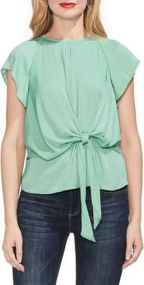 Vince Camuto Tie Front Keyhole Top