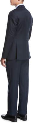 Giorgio Armani Pindot Birdseye Wool Two-Piece Suit, Blue