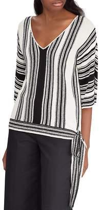 Lauren Ralph Lauren Striped Side-Tie Sweater