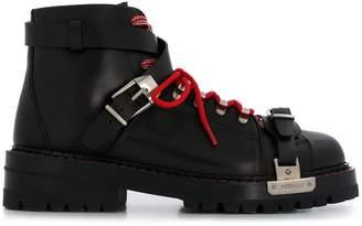 Versace combat boots