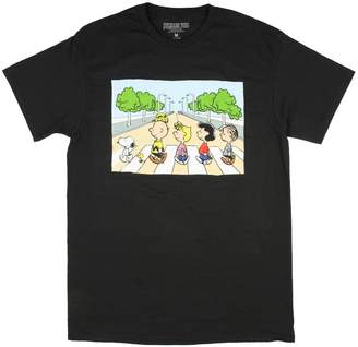Peanuts Snoopy Road Abbey Road Parody Adult T-Shirt (Adult)