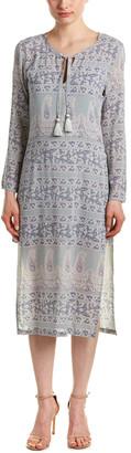 Calypso St. Barth Calypso Yolani Block Printed Silk Tunic Dress