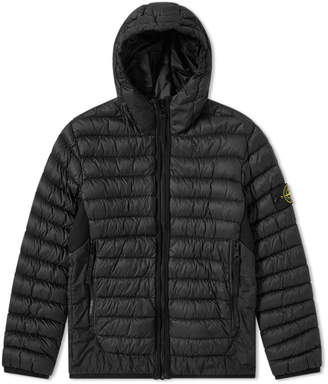 Stone Island Junior Light Down Filled Crinkle Reps Hooded Jacket