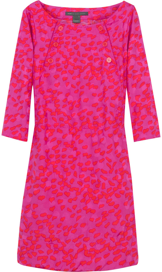 Marc by Marc Jacobs Flock of hearts print dress