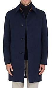 Barneys New York Men's Reversible Wool & Tech-Fabric Coat-Blue