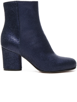 Maison Margiela Metallic Leather Booties $935 thestylecure.com