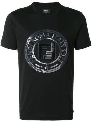 Fendi sequins logo T-shirt