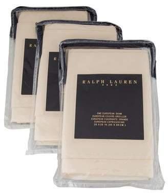 Ralph Lauren Set of 3 European Silk Shams w/ Tags