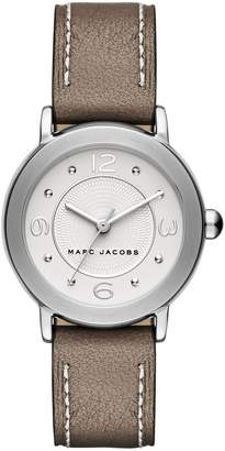 Marc Jacobs 'Riley' Round Leather Strap Watch, 28mm