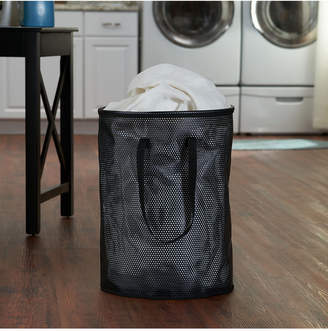 Household Essentials Eva Mesh Round Personal Hamper, Black