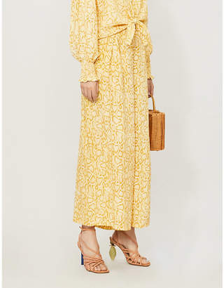 Faithfull The Brand Opal wide-leg high-rise rayon trousers