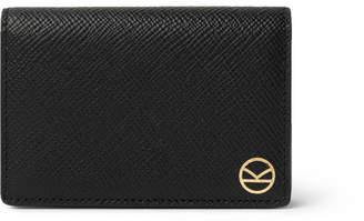 Smythson Kingsman Panama Cross-Grain Leather Cardholder