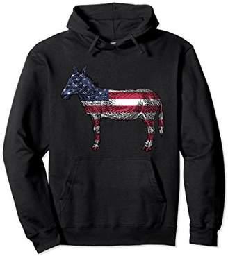 Donkey American Flag Democrat Hoodie