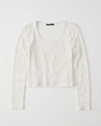 Abercrombie & Fitch Long-Sleeve Lace Top