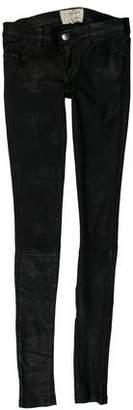 Current/Elliott Leather Low-Rise Pants