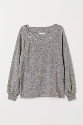 H&M Off-the-shoulder Top - Gray