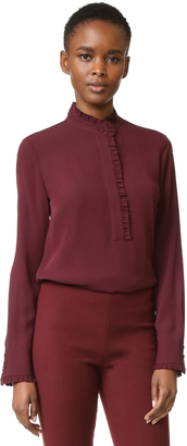 Theory Eilliv Ruffle Blouse $295 thestylecure.com