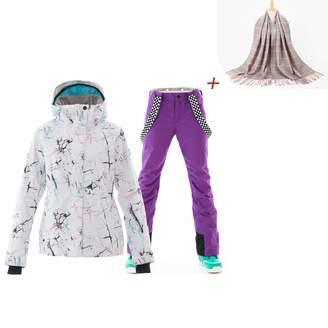 42117eb10e SunFlower666 2018 New Fashion Ski Windproof Waterproof Colorful Snowboard  Ski Jacket Pants Set
