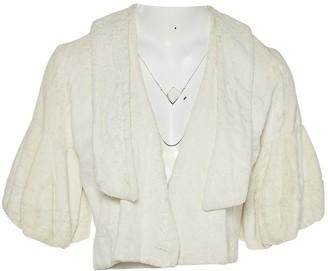 Non Signé / Unsigned Non Signe / Unsigned White Faux fur Jackets